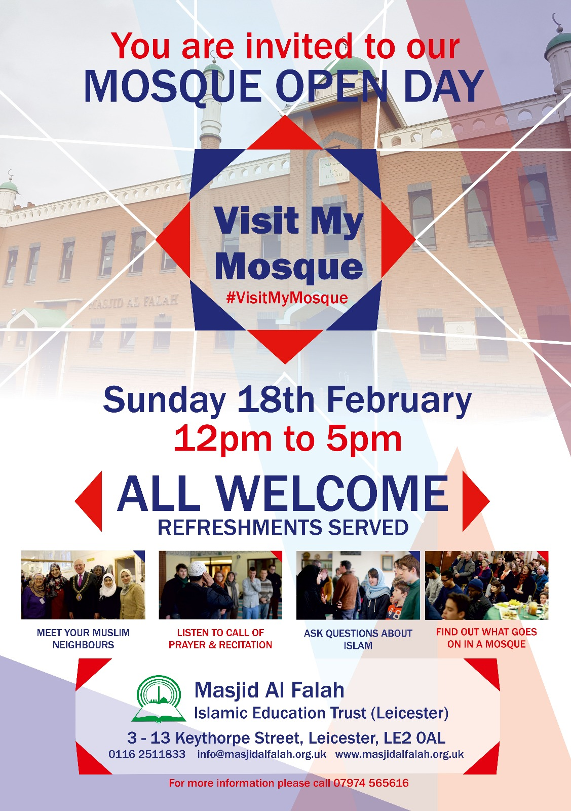 Visit My Mosque 2018 poster